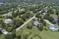 Antena suburbana de la vecindad Fotos de archivo libres de regalías