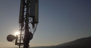 Antena Sun de la telecomunicación almacen de metraje de vídeo