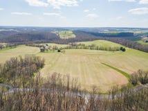 Antena Susquehanna otaczający obszar w delcie i rzeka, Penns obraz royalty free