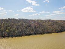 Antena Susquehanna otaczający obszar w delcie i rzeka, Penns obraz stock