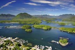 Antena Tofino, Vancouver wyspa, BC, Kanada fotografia stock
