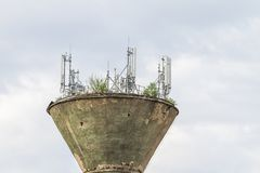 Antena tower comunications mobile Stock Images