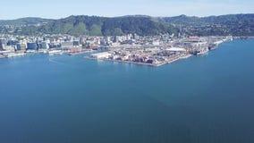Antena, transporte de carga de Wellington New Zealand vídeos de arquivo