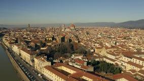 Antena ustanawia strzał miasto Florencja włochy Toskanii zbiory wideo