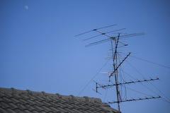 Antena vieja de la TV Fotografía de archivo
