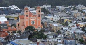 Antena vizinhança 4K de San Francisco, Califórnia filme