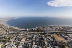 Antena W centrum Ventura nabrzeże w Południowym Kalifornia Obraz Stock