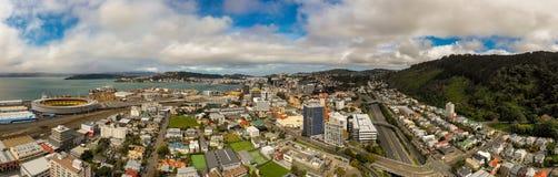 Antena, Wellington New Zealand Sunset foto de stock royalty free