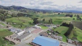 antena widok krajobrazowy wiejski zbiory wideo