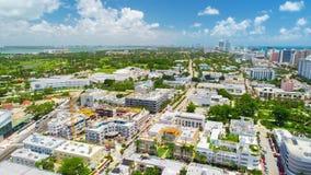 antena widok plażowy południowy Miami beach Floryda USA obraz stock