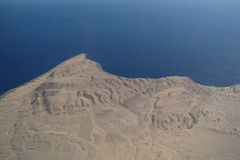 antena widok pustynny denny zdjęcie stock