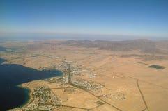 antena widok pustynny denny zdjęcia stock