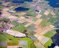 Antena wiejski krajobraz w Eifel, Niemcy Zdjęcia Stock
