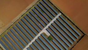 Antena wir strzelający panel słoneczny zdjęcie wideo