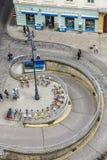 Antena zatłoczony Stephansplatz w Wiedeń z garażem Zdjęcia Royalty Free