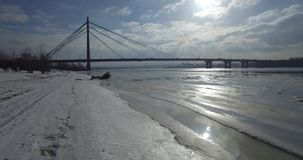 antena Zima most na mieście Zwyczajny most w słońcu zbiory wideo