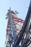 Antenas da estação base de uma comunicação celular Fotos de Stock Royalty Free