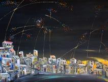 Antenas da noite Imagens de Stock