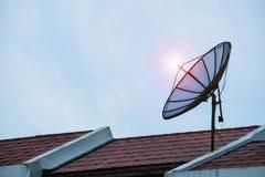 Antenas de antena parabólica Foto de archivo libre de regalías