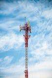 Antenas de la comunicación celular Imágenes de archivo libres de regalías