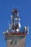 Antenas de la retransmisión Fotografía de archivo libre de regalías