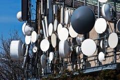 Antenas de la telecomunicación fotografía de archivo