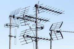 Antenas de la televisión Imagenes de archivo