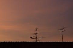 Antenas de la TV Fotos de archivo