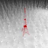 Antenas de las comunicaciones contra el cielo azul Imagen de archivo libre de regalías