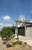 Antenas de las telecomunicaciones Imagen de archivo libre de regalías
