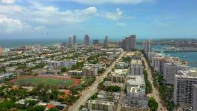 Antenas de Miami Beach do verão do zangão filme