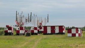 Antenas de radar almacen de metraje de vídeo