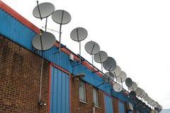 Antenas de satélite Foto de archivo