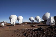 Antenas do telescópio de rádio Imagem de Stock