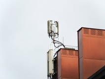 Antenas em uma chaminé Fotos de Stock