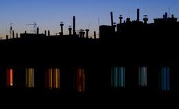 Antenas en un edificio foto de archivo libre de regalías