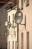 Antenas parabólicas Fotografía de archivo libre de regalías