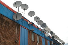 Antenas satélites Foto de Stock