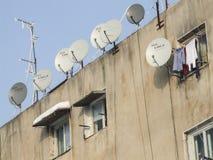 Antenas TV στα προάστια Στοκ Εικόνες