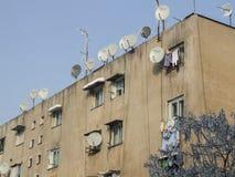 Antenas TV στα προάστια Στοκ εικόνες με δικαίωμα ελεύθερης χρήσης