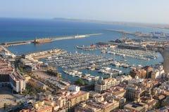Antenn av alicante port Royaltyfria Foton