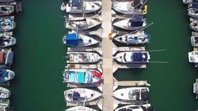 Antenn av Dana Point Harbor lager videofilmer