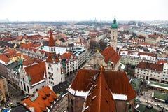 Antenn av den Munich staden, Tyskland Fotografering för Bildbyråer