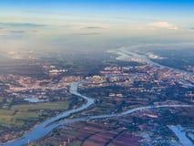Antenn av det lantliga landskapet nära Hamburg Arkivbild