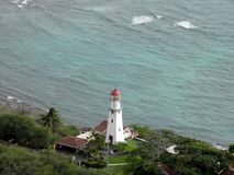 Antenn av Diamond Head Lighthouse Arkivbild
