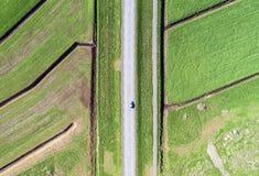 Antenn av en landsväg Arkivbild