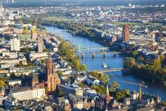 Antenn av Frankfurt en strömförsörjning Royaltyfri Bild
