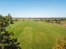 Antenn av jordbruksmark i Dover, Pennsylvania precis söder av Harrisbu Royaltyfri Fotografi