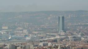 Antenn av Marseille port stock video