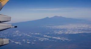 Antenn av Mount Kilimanjaro Royaltyfria Bilder